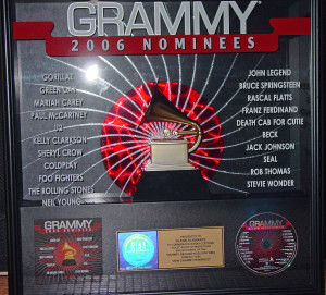 grammy plaque