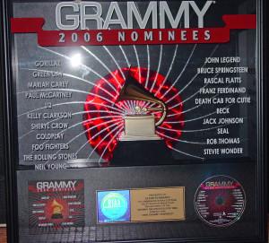 grammy plaque