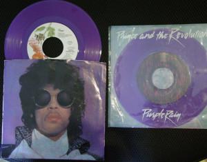 Prince memorabilia - Purple Rain singles