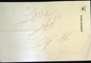 Prince memorabilia - autograph